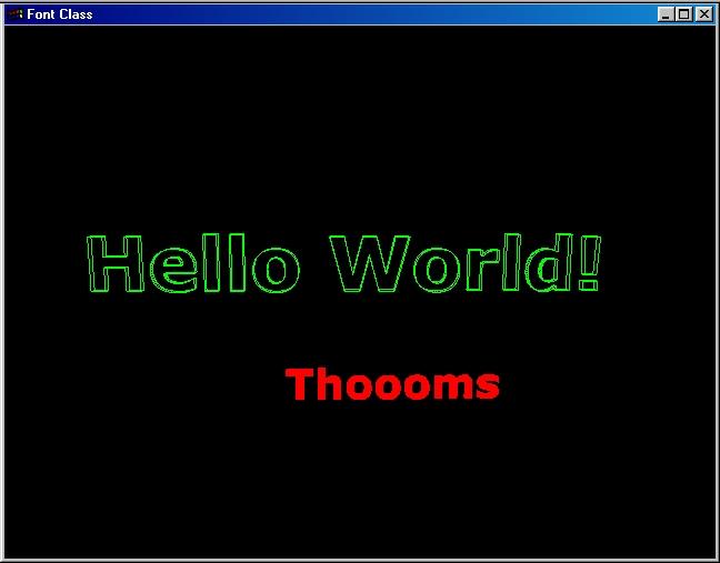 OpenGL Text Rendering Class  